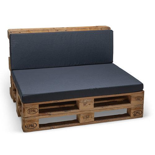 Pallet cushion Premium back part gray 120x40x8cm