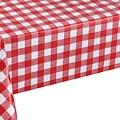 Tafellaken-Tafelkleed- Ruit rood - 140x250 cm