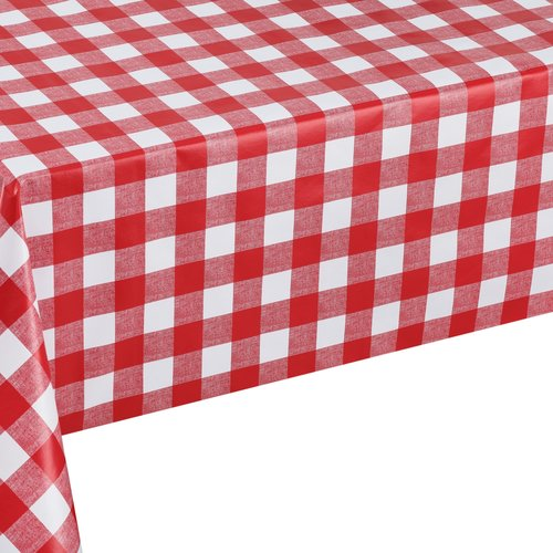 Tablecloth Ruit rood 140x250 cm