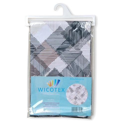 Tafelkleed Blokken grijs 140x250 cm
