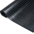 Rubber floor mat Traanplaat  black 3mm thickness on a roll