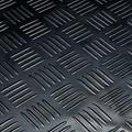 Deurmat-Rubber vloermat Traanplaat blok  zwart 3mm dikte op rol