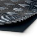 Gummi bodenmatten Traanplaat blok  schwarz 3mm dick auf einer Rolle