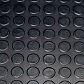 Rubber floor mat Noppen black 3mm thickness on a roll