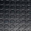 Rubber vloermat Noppen zwart 3mm dikte op rol