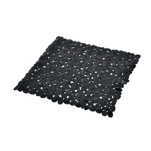Antislip douchemat zwart 52x52cm
