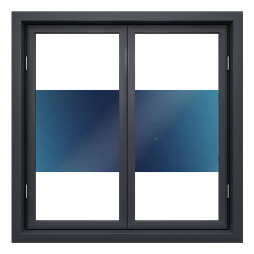 Zonwerende raamfolie 90cm transp/blauw