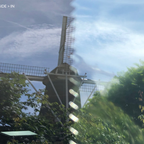 Sun protection window film 90 cm transp /blue