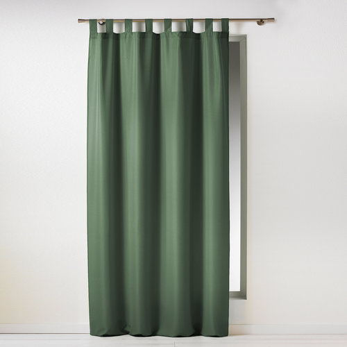 Wicotex Kant en klaargordijn met ophanglus 140x260cm uni polyester groen