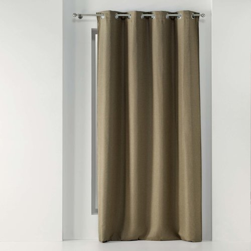 Wicotex Ready made curtain Tissea with rings woven hazelnut obscuring 135x240cm