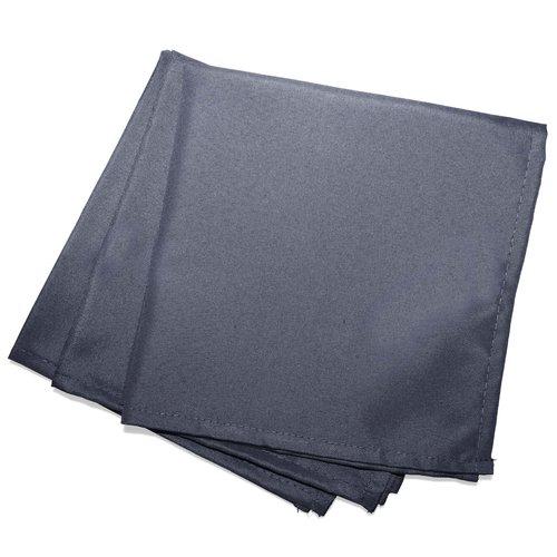 Wicotex Servetten Essentiel  40x40cm donker grijs 3 stuks polyester