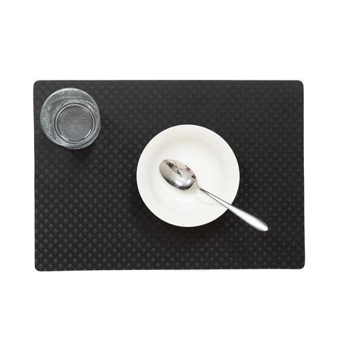 Placemats Zafiro zwart verpakt per 12 stuks