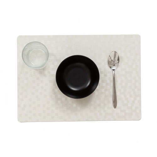 Placemats Dijon white packed per 12 pieces