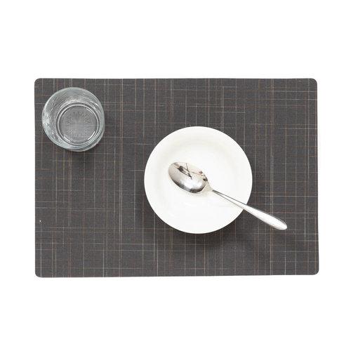 Tischsets Damero Liso grau verpackt pro 12 Stück