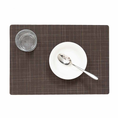 Place mats Damero Liso marron packed per 12 pieces