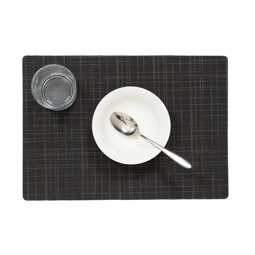 Tischsets Damero Liso schwarz