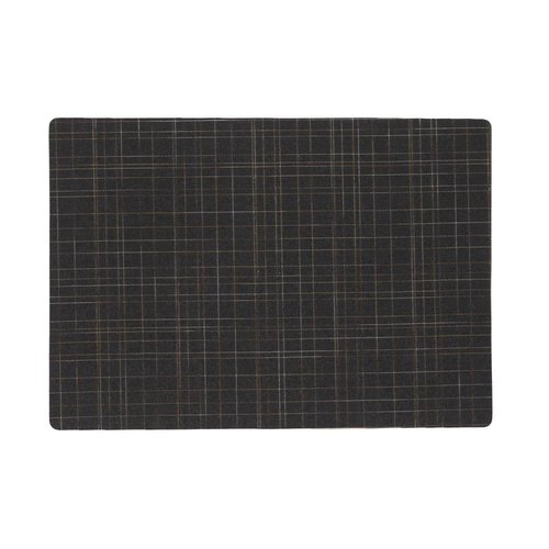 Place mats Damero Liso black packed per 12 pieces