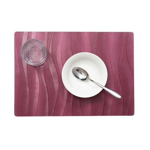 Placemats Onix red packed per 12 pieces