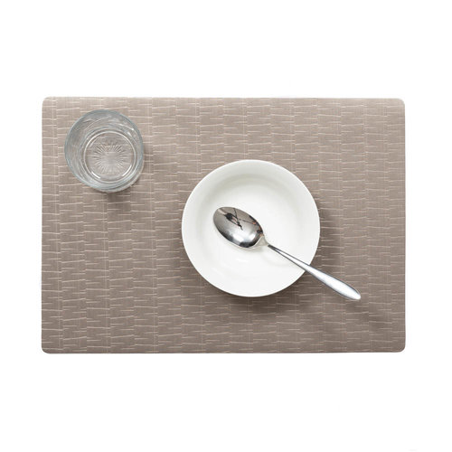 Placemats Jaspe taupe packed per 12 pieces