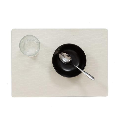 Tischsets Jaspe weiß verpackt pro 12 Stück