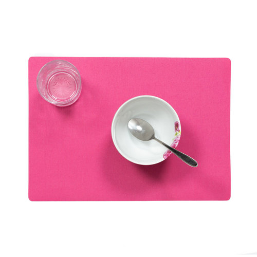 Placemats Uni fuchsia packed per 12 pieces