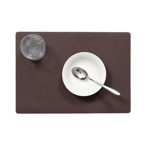 Placemats Uni chocolate MINIMALE BESTELEENHEID 12 STUKS