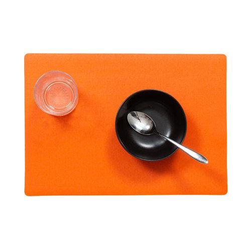Placemats Uni orange packed per 12 pieces