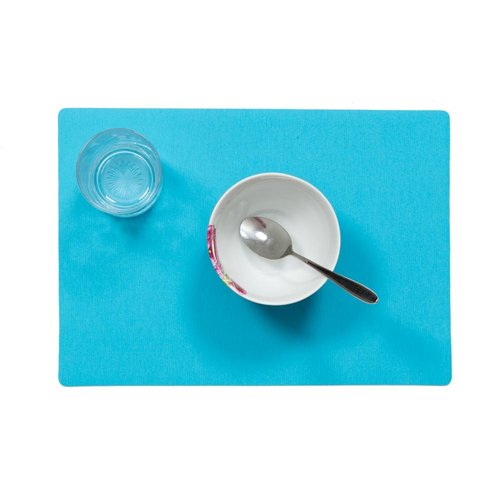 Placemats Uni turquesa packed per 12 pieces