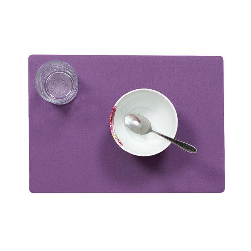 Tischsets Uni lila verpackt pro 12 Stück