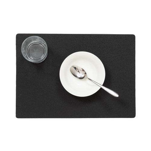 Tischsets Uni schwarz verpackt pro 12 Stück