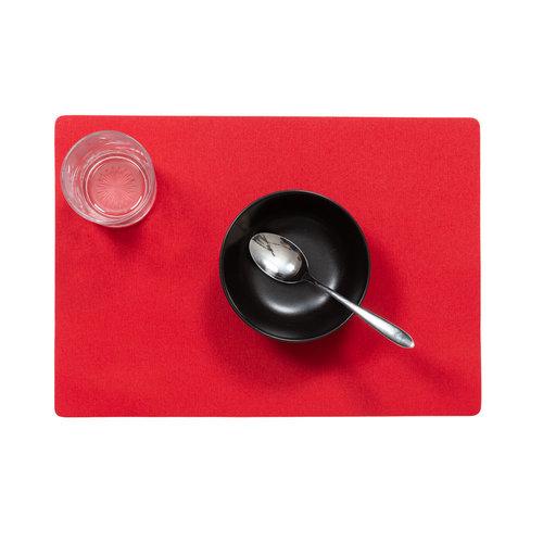 Placemats Uni rood MINIMALE BESTELEENHEID 12 STUKS