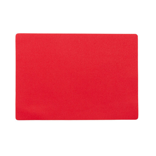 Placemats Uni red packed per 12 pieces