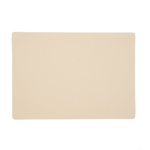 Placemats Uni cream packed per 12 pieces