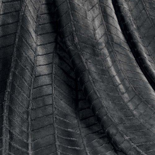 Wicotex Plaid flannel/sherpa 125x150cm Zema gray polyester