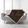 Wicotex Plaid mock fur Safari 125x150cm black polyester