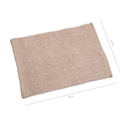 Classic Braid bath mat 60x90cm taupe