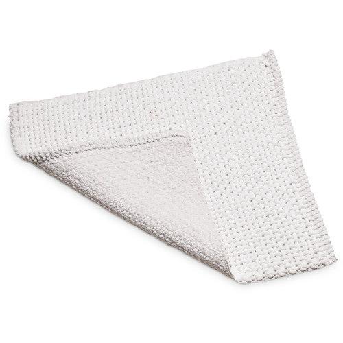 Bidet mat Classic Braid 50x60cm white