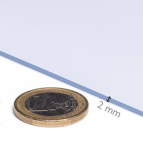 Transparentes Wachstuch 2,0 mm. 70 cm x 20 m.