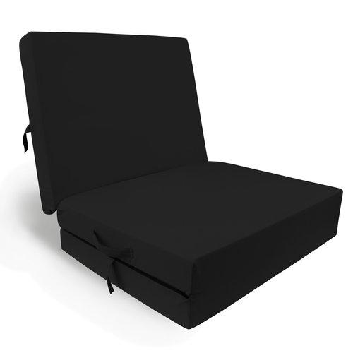 Foldable mattress anthracite 195x85x10cm
