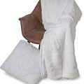 Wicotex Trow pillow jacquard Cube beige 50x50cm polyester