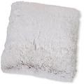 Wicotex Sierkussen kunst bont Snow 50x50cm wit bruin polyester hoog polig