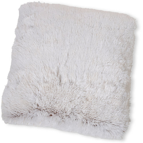 Wicotex Dekokissen kunstfell Snow 50x50cm weib braun Polyester hohe Stange