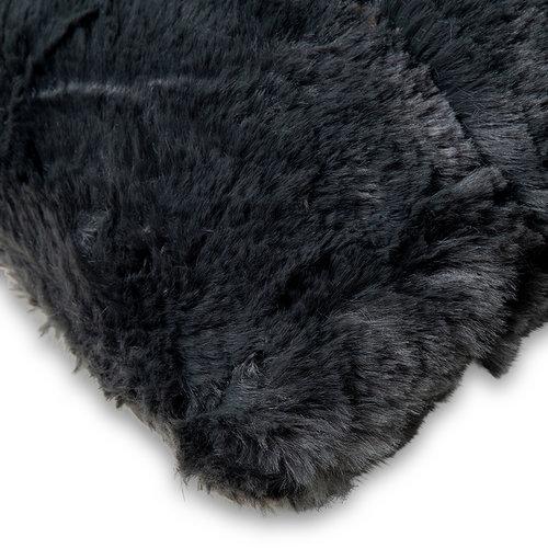 Wicotex Plaid-dekens- jacquard Cube donker grijs 150x200cm polyester