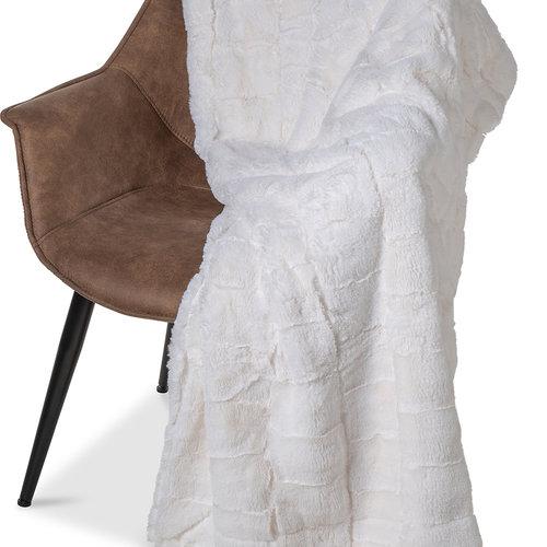Wicotex Plaid jacquard Cube beige 150x200cm polyester
