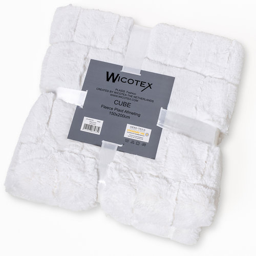 Wicotex Plaid-dekens- jacquard Cube beige 150x200cm polyester