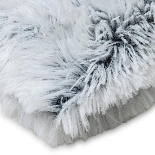 Wicotex Plaid kunstfell Snow 150x200cm weib schwarz Polyester hohe Stange