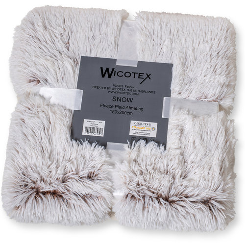 Wicotex Plaid kunstfell Snow 150x200cm weib braun Polyester hohe Stange