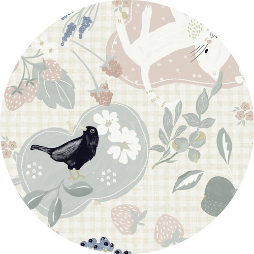PVC tablecloth birds 160 cm