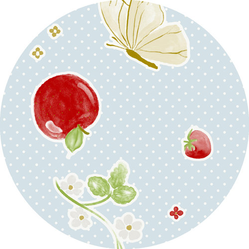PVC tablecloth Sweet fruits around 160 cm