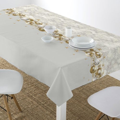 Coated Table textiles Happy Year Christmas